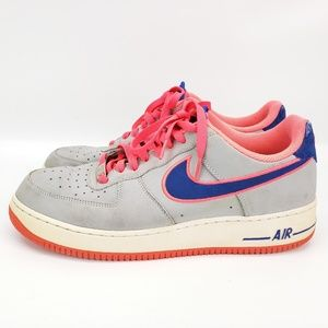 Nike Shoes - Nike Air Force 1 Low men's Size 12 Grey Royal Blue